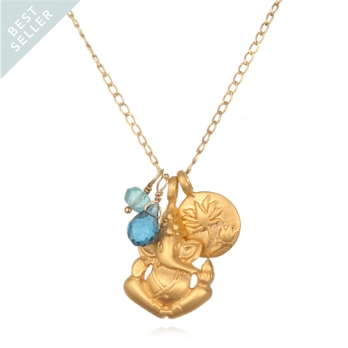 Blue Topaz Onwards Necklace