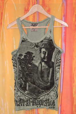 Buddha Inspiration Camogreen Tank Top