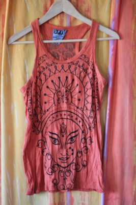 Durga Orange Tank Top