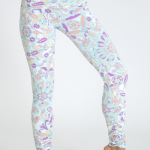White Mandala Hot Yoga Legging