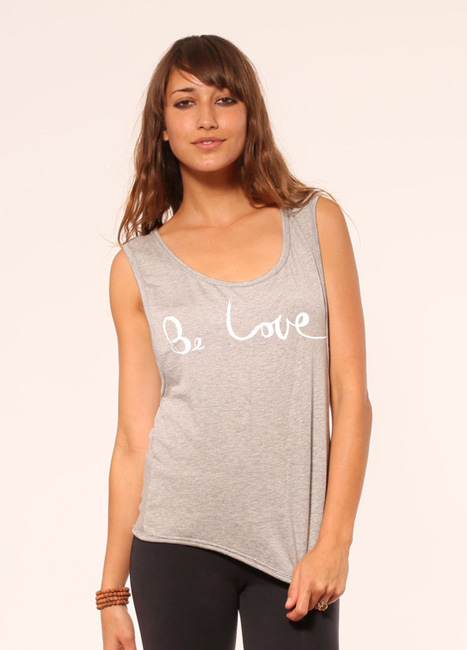 'Be Love' Festival Flow Tank in French Terry