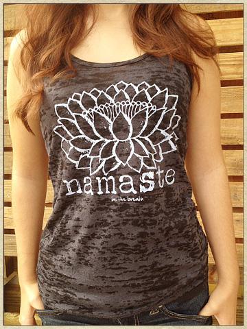 Namaste Burnout Tank