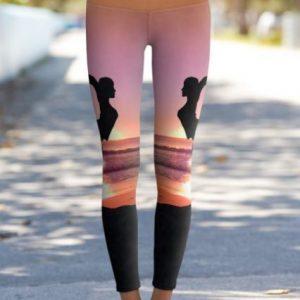 Beach Yoga Printed Performance Leggings